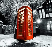 Winter phonebox by Mark Nelson