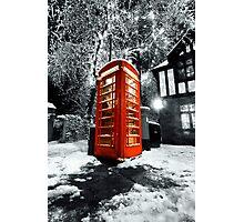 Winter phonebox Photographic Print