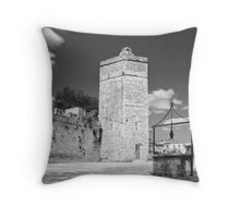 Zadar b&w IX Throw Pillow