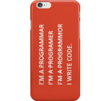 I write code iPhone Case/Skin