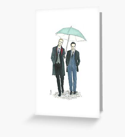 Umbrella Mormor Greeting Card