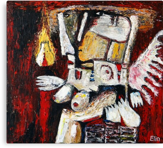 """Good genius with lamp""  by Elin Bogomolnik"