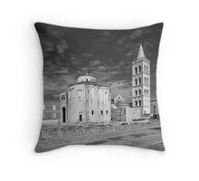 Zadar b&w V Throw Pillow
