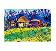 Transylvanian farm Art Print
