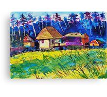 Transylvanian farm Canvas Print