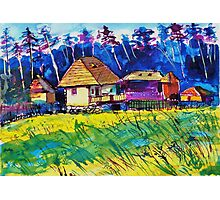 Transylvanian farm Photographic Print