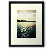 Lomo lake Framed Print