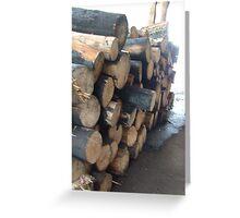 Logs at King Saddle Greeting Card