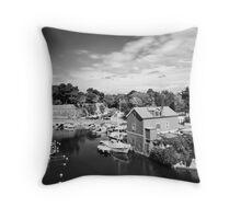 Zadar b&w III Throw Pillow