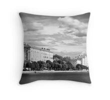 Zadar b&w II Throw Pillow