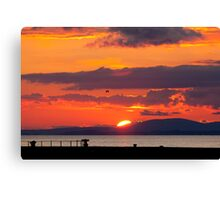 Whitehaven Sunset From North Pier Canvas Print