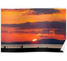 Whitehaven Sunset From North Pier Poster