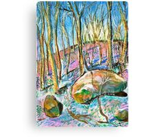 Quebec forest in autumn Canvas Print