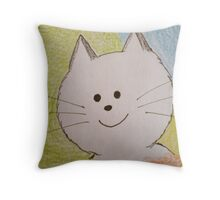 Paws Here Throw Pillow