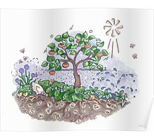 Soil life with Persimmons  Poster