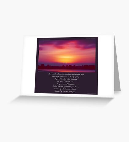 ~ Beyond Land's Reach ~ a collaboration with David Elder Greeting Card