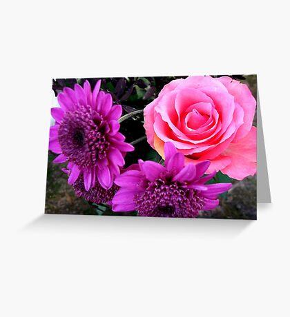Pink & Purple Greeting Card