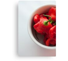 Red hot chilli peppers in a cup Canvas Print