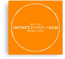 the martian - 'watney potato farm' vintage typography Canvas Print