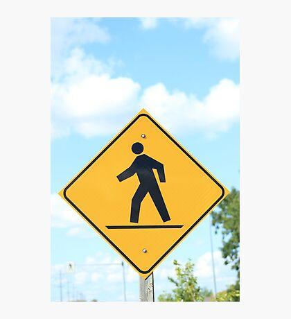 Pedestrian Crosswalk Sign Photographic Print