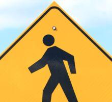 Pedestrian Crosswalk Sign Sticker
