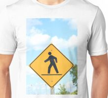 Pedestrian Crosswalk Sign Unisex T-Shirt