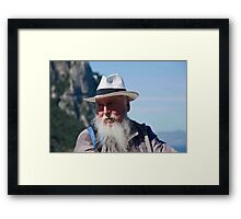 White Hat, Good Guy Framed Print