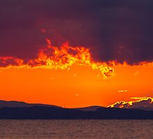 A Solway Sunset  by Jan Fialkowski