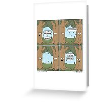 This comic is printed on 100% recycled virtual paper. Save the trees, hug a whale. Greeting Card