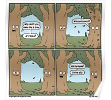 This comic is printed on 100% recycled virtual paper. Save the trees, hug a whale. Poster
