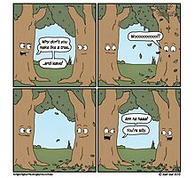 This comic is printed on 100% recycled virtual paper. Save the trees, hug a whale. Photographic Print