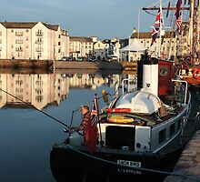 Whitehaven Harbour & Tall Ship Zebu by Jan Fialkowski