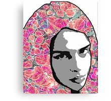 Portrait with Paper Marbling Canvas Print