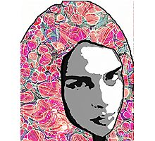 Portrait with Paper Marbling Photographic Print