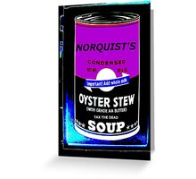 NORQUIST'S SOUP PURPLE - TAX THE DEAD! Greeting Card
