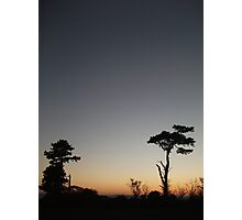 English landscape skyline 2 Photographic Print