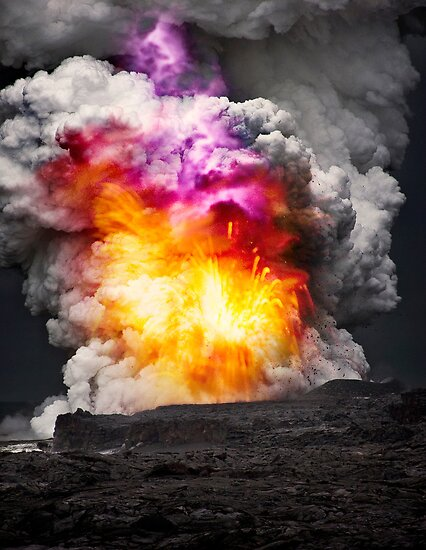 Kilauea Volcano at Kalapana 7  by Alex Preiss
