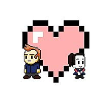 """Love in 8-bit"": Jeff and Annie (style A) Photographic Print"