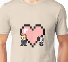 """""""Love in 8-bit"""": Jeff and Annie (style A) Unisex T-Shirt"""