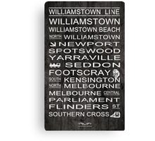 Williamstown Line Canvas Print