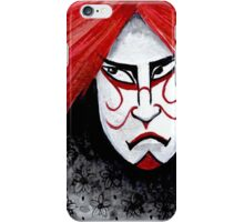 Kabuki Mask with Red Hair iPhone Case/Skin
