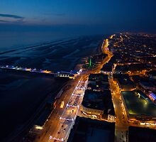 Blackpool Tower ~ Looking North at Dusk by Jan Fialkowski