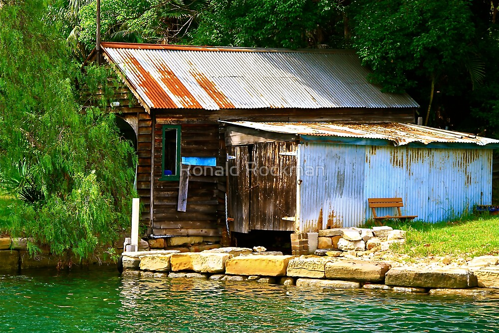 SHACK ON THE EDGE OF SYDNEY HARBOUR by Ronald Rockman