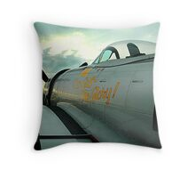Thunderbolt Sunset Throw Pillow