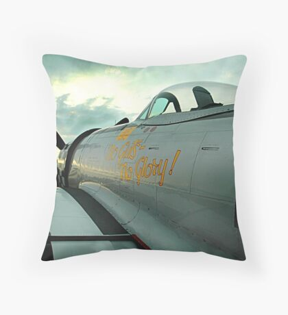 Thunderbolt Sunset Throw Pillow