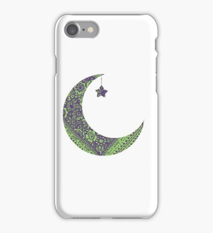 Purple Green Moon iPhone Case/Skin