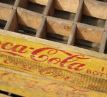 Coke crates, Brooklyn Flea Market by Rachael Mullins