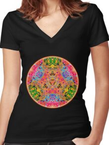 Phonesthesiae Women's Fitted V-Neck T-Shirt