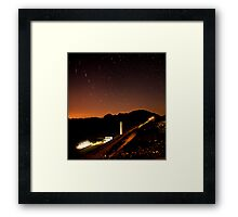 Star Trails over South Holston Dam Framed Print