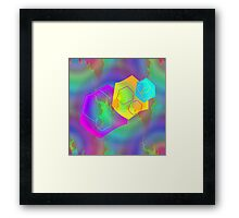 Retro-80s Abstracts Seamless Version Framed Print